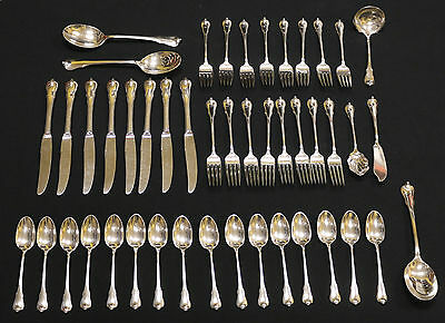 Service for 8 Wallace Sterling Silver Flatware Set - 46 Pieces