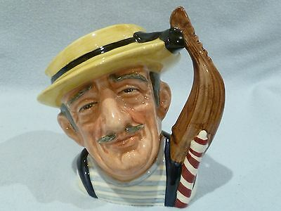 "Royal Doulton Small Character Jug ""gondolier"" D6592 Excellent Condition Rare"