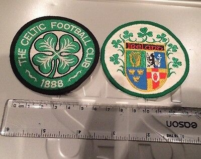 Celtic & Ireland Sew On Patches 1980s