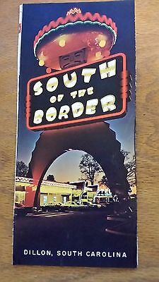 SOUTH OF THE BORDER BROCHURE 1960's ** DILLON, SOUTH CAROLINA 8 page foldup