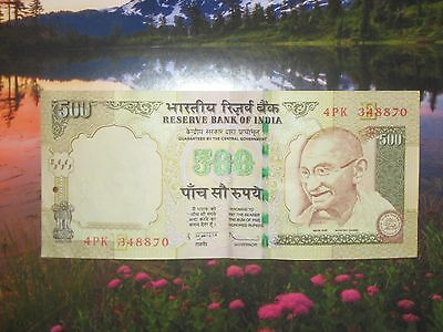 Crisp  No Marks   Note Of 500 Indian Rupee Currency Circulated Gandhi Watermark