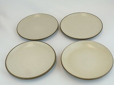 """HEATH Vintage Speckled Brown Birch 6.25"""" Coupe Bread Side Plates Set of 4 Lot 1"""
