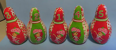 1980's STRAWBERRY SHORTCAKE LOT OF 5 STUFFED BOWLING PINS