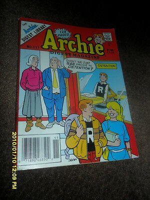 1991 Archie   Comic Book Digest Magazine # 111 Archie In Detention