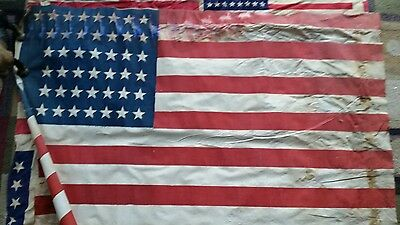 """44 star American Flags flag - Rare size 24 x 40"""" has stains bleeding"""