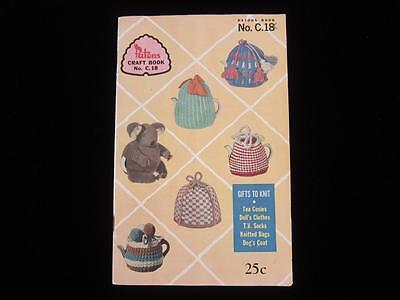 Vintage Patons Craft Book no. C.18 Gifts to Knit & Crochet