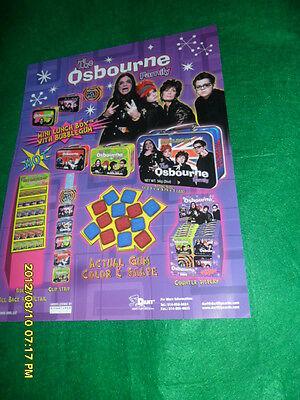 2002 The Osbourne Family 0Zzy Mini-Lunch Box Collectibles Original Sell Sheet