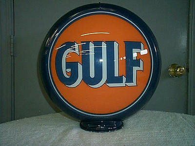 gas pump globe GULF reproduction 2 glass faces in a plastic body NEW