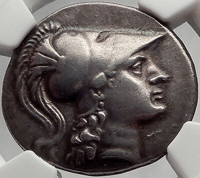 SIDE Pamphylia 200BC Authentic Ancient Silver Greek Tetradrachm Coin Athena NGC