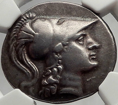 Side in Pamphylia 200BC Authentic Ancient Silver Greek Tetradrachm Coin Athena
