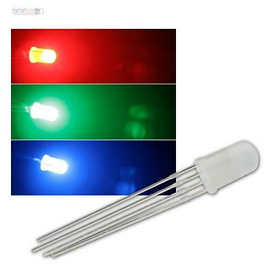 500 LED 5mm RGB diffus,4-pin controllable diffuse LEDs 3-Chip RGBs