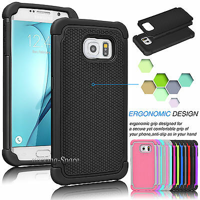 Hybrid Armor Shockproof Silicone Hard Case Cover For Samsung Galaxy S7 Edge / S7