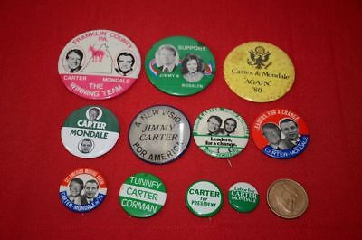 Jimmy Carter Walter Mondale Political Campaign Button Lot President Coin 1344