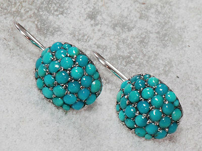 Victorian Turquoise Earrings Reproduction