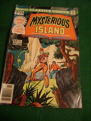 1976 Marvel Classics Comics Mysterious Island 52 Pages No Ads Jules Verne
