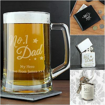 Personalised No.1 Dad Daddy Grandad Father's Day Birthday Gift Present Ideas