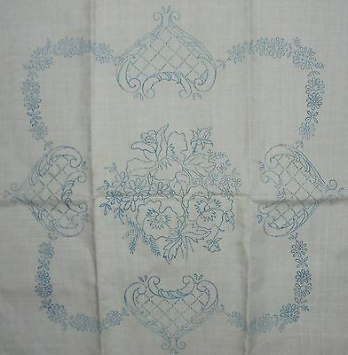 One Linen Cushion Cover To Embroider