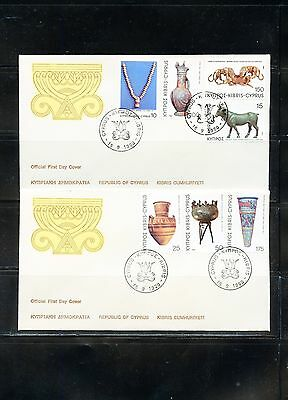 Cyprus 1980 Definitive Set On First Day Covers