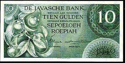 Dutch East Indies. Ten Gulden. FG 016753. 1946, better than Good Very Fine.