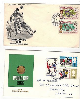 FOUR WORLD CUP  First Day Covers. THREE 1966 inc.ADEN & one 1970 Mexico German