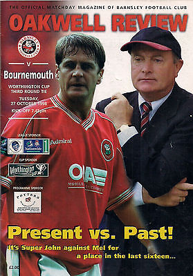 BARNSLEY v BOURNEMOUTH 1998-1999 League Cup 3rd Rnd