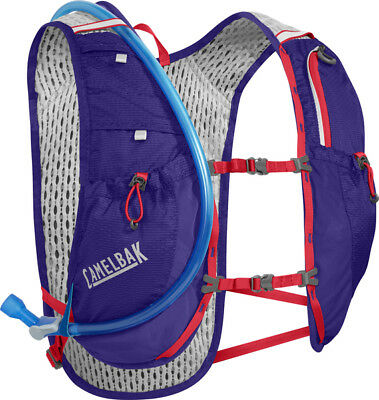 New CamelBak 1.5L Circuit Running Hydration Vest Amethyst/Coral Crux Reservior