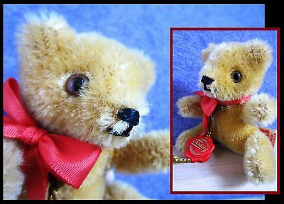 Vintage miniature Hermann Teddy bear with original tag and lable, Germany