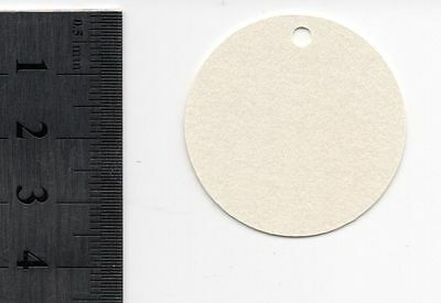 50 x Cream Round Gift Tags/Labels - punched - c. 3.5 cm length