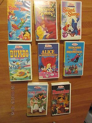 COLLECTION OF WALT DISNEY'S CLASSIC VHS Video Tapes - Region Pal UK - RARE