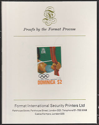 Dominica (1896) - 1976 Archery $2 imperf on Format International PROOF  CARD