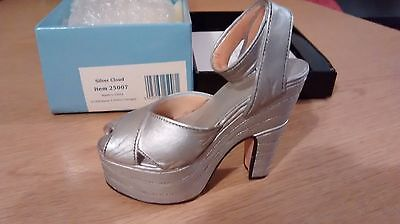 "Collectible Miniature Shoe ""Just the Right Shoe"" by Raine - Silver Cloud (Boxed)"