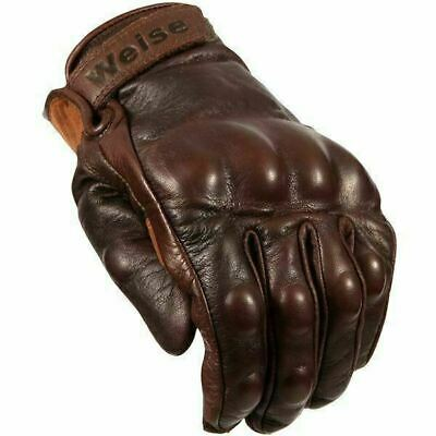 Weise Victory Classic Motorcycle Glove Retro Style Brown Armoured