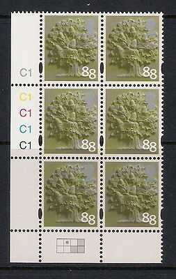 GB mint stamps - Regional Cylinder Block - England 88p