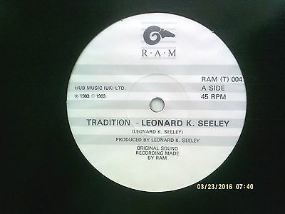 "Leonard K. Seeley Tradition 12"" Promo Single 1983 N/mint"