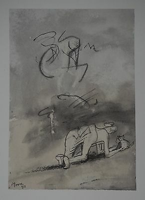 "Henry Moore ""Woman playing with ..."" Lithograph Limited 2047/3000 pcs Seat '83"