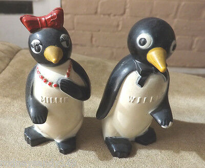 Plastic Penquin  Salt & Pepper Shakers
