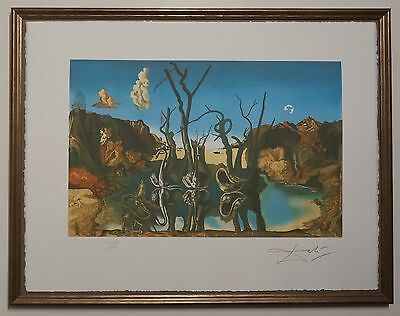 Salvador Dali 'Swans reflecting Elephants' Signed Lithograph Lim. 2000 pcs.