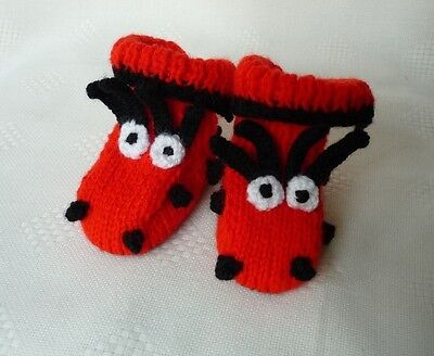 Red Ladybird Baby Booties or Bootees - FUN ITEM