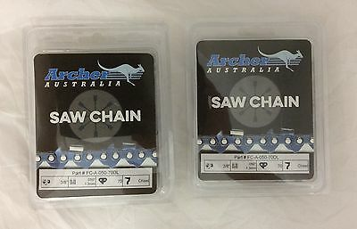 """2 Pack 20"""" Chainsaw Chain 3/8-050-70DL CHISEL ECHO CS-590 replaces 72LGX070G"""