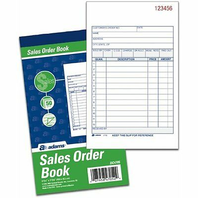 Adams Money Rent Receipts Sales Order Books, 2-Part, Carbonless, White/Canary, x