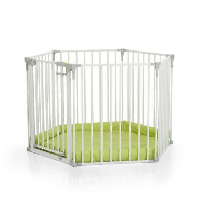 Hauck Babypark & Soft Mat (White) Playpen, Guard, Gate & Barrier 4-in-1