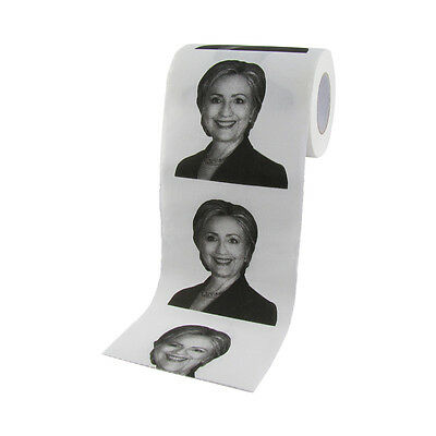 Hillary Clinton For President 2016 Toilet Paper 1 TP Roll Novelty Party Gag Gift