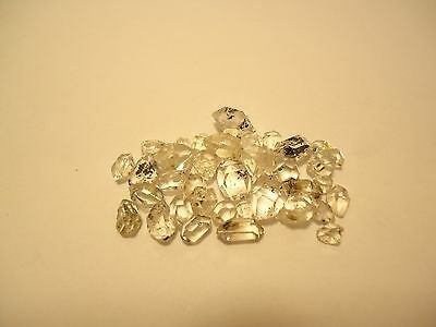 Lot Of Herkimer Diamonds 30 Ct Loose Cut Clear Gemstones 3-9.5 Mm Wholesale #4A