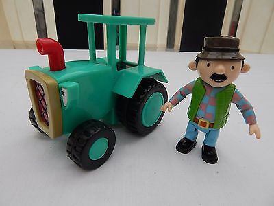 Travis The Friction Tractor With Farmer Pickles Figure From  Bob The Builder