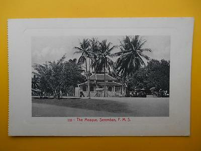 The Mosque SEREMBAN Federated Malay States Malaysia *Vintage* c1910 #333