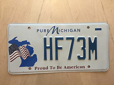 "Proud To Be An American Usa Flag  Patriot License Plate  "" Hf 73 M ""  Mi"