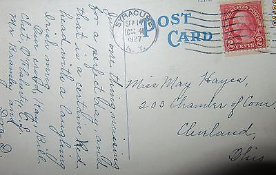 1927 2 Cents Franklin  United States Of America Post Card Used.
