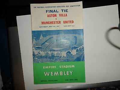 1957 FA CUP FINAL OFFICIAL . PROGRAMME ASTON VILLA  v MANCHESTER UNITED