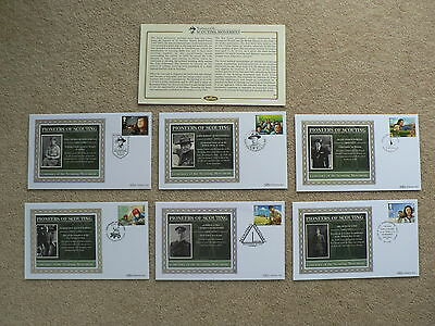 Centenary of Scouting Movement, 2007, Benham Silk FDCs, Set of 6, Pioneers,