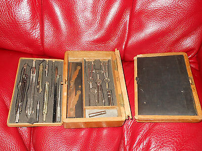 Vintage Bwc Set Of Drawing Compasses Boxed Compass *free Post*